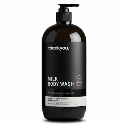 Thankyou Botanical Lemon Myrtle & Goats Milk Body Wash 1L