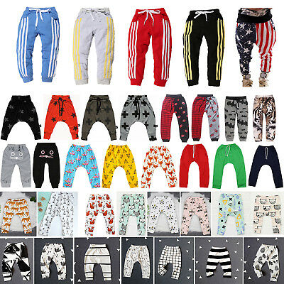 Kids Boys Baby Girls Harem Pants Bottoms Loose Sports Jogger Sweatpants Trousers