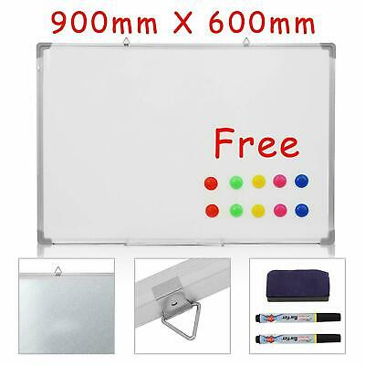 Whiteboard Magnetic Drawing Board & Eraser Dry Wipe  Office Notice 900 X 600 Mm