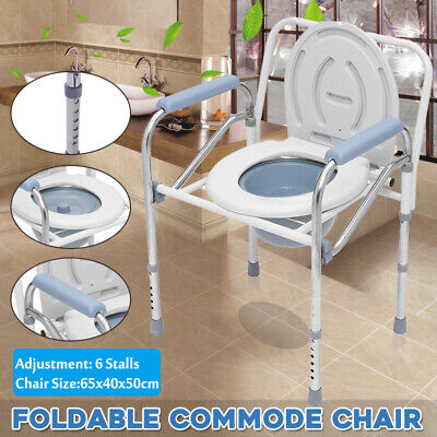 Portable Folding Commode Toilet Chair Camping Travel Park Fishing Outdoor Seat
