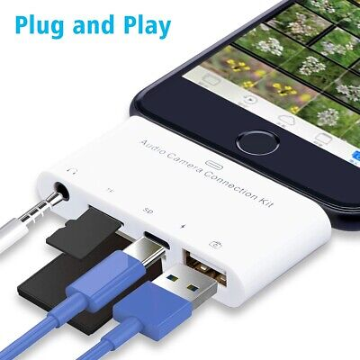 Camera Memory Micro SD Card Reader Adapter for Lightning to USB For iPhone iPad