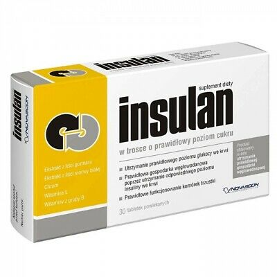 Insulan 30 tablets - improves anabolic effects, muscle mass, proper sugar level