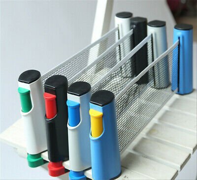 Table Tennis Net Portable Retractable Ping Pong Post Net Rack For Any Table AU