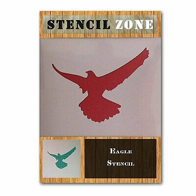 Eagle Bird Sitting perched Animal Mylar Airbrush Painting Wall Art Stencil...