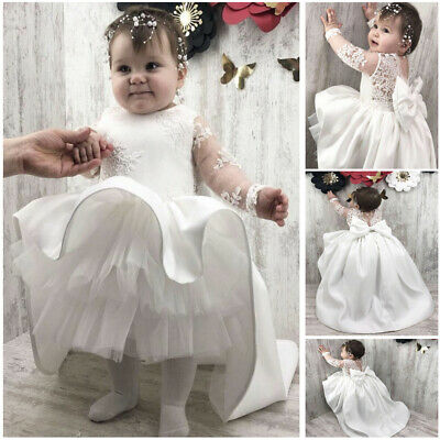 Toddler Christening Dresses Lace Baby Girl Antique Beads Baptism Gowns Party