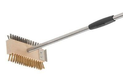 Brush Double Bristle Stainless Steel-Brass Grill and Barbecue Ac-Spbi