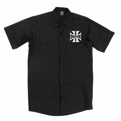 West Coast Choppers Og Cross Atx Workshirt In Black **Brand New**