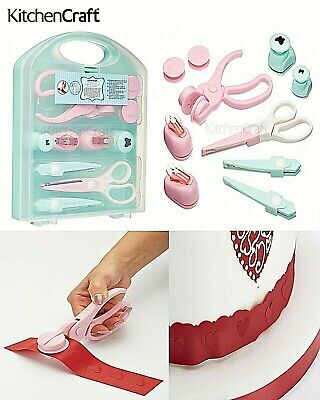 Kitchen Craft Sugarcraft Embossing Punch Scissor Set Cake Decorating Fondant Box