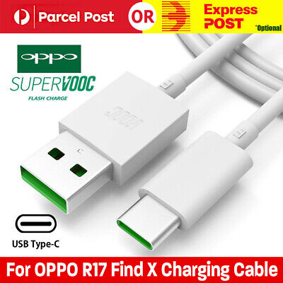 Genuine OPPO R17 Pro Find X 4A Fast Charger Cable VOOC Charging Type-C USB 2019