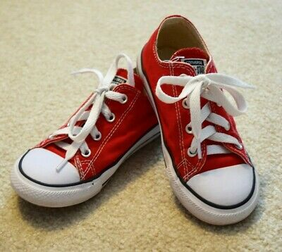 14ab44cd570 Converse Chuck Taylor All Star Ox Red 10 Infant Toddler Girls Boys Shoes  Sneaker