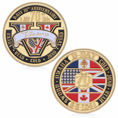 Normandy Victory 70Th Anniversary 1944 Challenge Coin