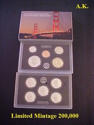2015 S US Mint 90/% Silver Proof 14 Coin Set SW2 with box and COA low mintage
