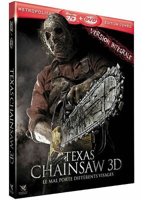 Blu Ray 3D + 2D + DVD : Texas Chainsaw 3D + Version 2D - NEUF