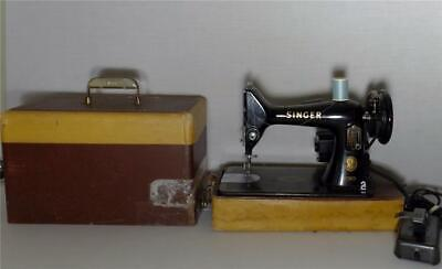 Vintage Singer 99K Electric Sewing Machine EL 582284 with Case Tested & Working