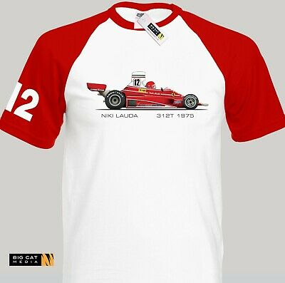 Race Art Niki Lauda 1975 Ferrari 312T Grand Prix Car T-Shirt