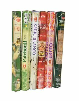 HEM MIXED BULK INCENSE STICKS - 6 Packets - 120 Sticks