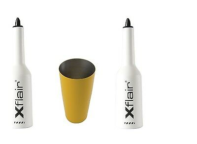 2 Flair Bottle Kit with White Tin Boston 28oz Balanced Yellow