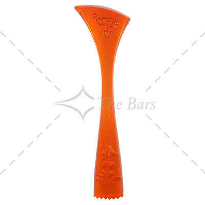 Pestle Ergonomic Knurled Orange Fluo-Attachments Barman