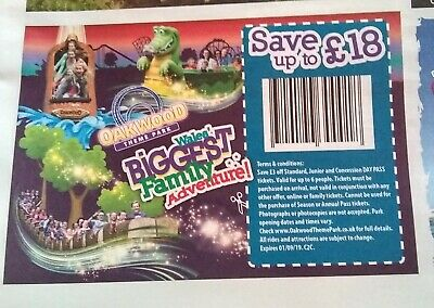 Oakwood Theme Park Voucher Save £18.00