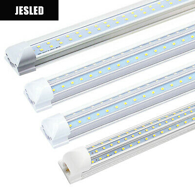4-100 Pack JESLED T8 Integrated 4-8FT LED Tube Light 22/72W V-Shape 7600LM 6000K