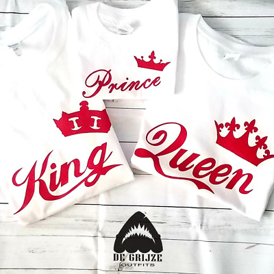 Red King Queen Prince Princess Shirts Couples Family Matching Tshirt (1 Piece)