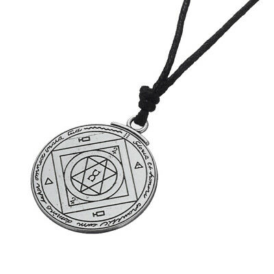 Alloy Talisman Success Business Key of Solomon Round Seal Pendant Necklace Gifts