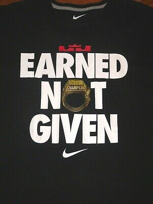 30a7470a Vintage Men's XXL Nike Lebron James Earned Not Given Champion T-Shirt 2XL