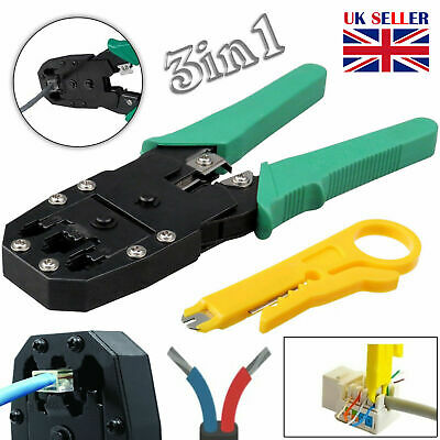 RJ45 Ethernet Network Cable Crimp Plug Tool LAN Crimper Cutter Pliers Cat5e Cat6