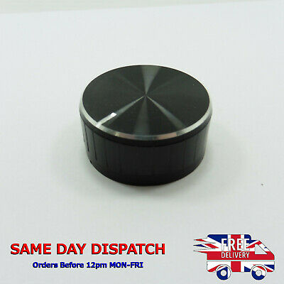 Black Aluminum Potentiometer Knurled Knob 40x17mm Cap Volume Control 6mm Shaft