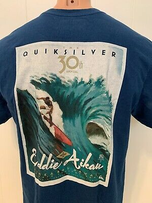7e04a7af Quiksilver Eddie Would Go Surf L Large Tee 30th Surfing Contest Hawaiian  Hawaii