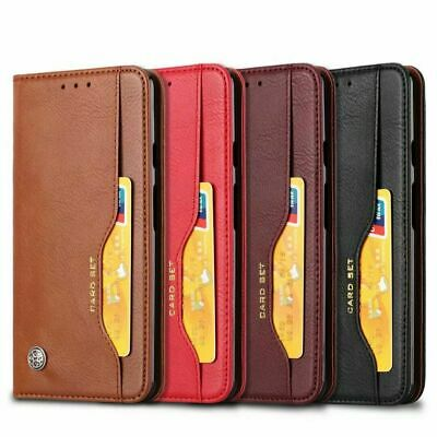 For Google Pixel 3a / 3a XL Magnetic Leather Card Pocket Wallet Flip Case Cover