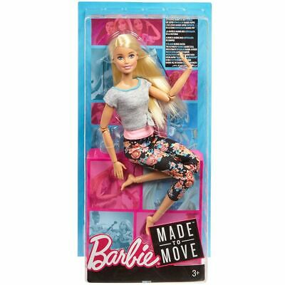 Barbie Made To Move Doll with Blonde Hair, Floral Leggings,  FTG81
