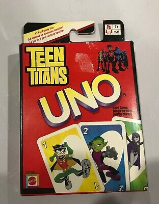 DC Universe Teen Titans Themed UNO Family Card Game Cartoon Network Classic P7