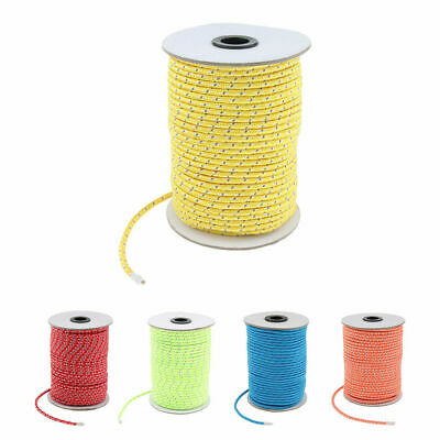 20M Fluorescent Reflective Tent Guy Rope Camping Awning Guide Rope Line Cord 4mm