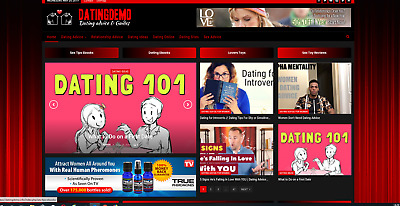 Dating Guides / Affiliate product website,Automated-Premium designed/website