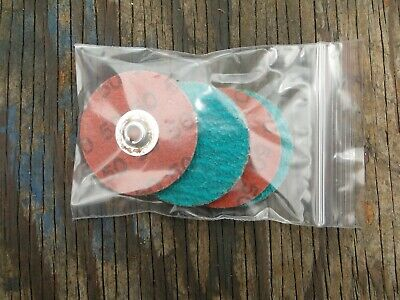 "New Merit 2"" 50 Grit Zirconia Powerlock R203 Sanding Disc Lot 5 Free Shipping! *"