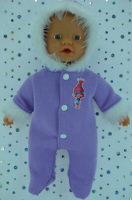 "Play n Wear Doll Clothes For 13"" My Little Baby Born/Mommy LILAC SNOWSUIT"