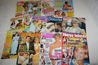 Princess Di Diana Royalty Cover  Magazines Huge Bulk lot # 1