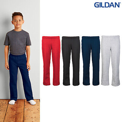 Gildan Youth Heavy Blend Open Hem Sweatpants 18400B-Kids Elastic Waistband Pants