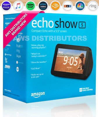 🔥 2019  Amazon Echo Show 5  Compact Smart Display with Alexa NEW 🔥