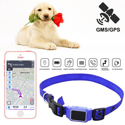 Mini Pet GPS Tracker Dog Cat Collar Anti-lost Locator Realtime Call GSM SOS B0I1 Car GPS Tracking Devices Vehicle Electronics & GPS