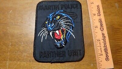MARTIN TENNESSEE POLICE Department Panther Unit Swat Obsolete Patch Bx B #18