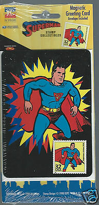 1998 USPS Superman Stamp Collectibles Magnetic Greeting Card **STILL SEALED**