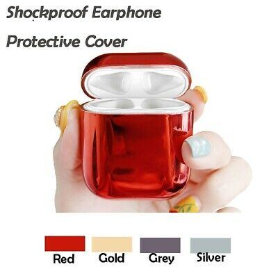 Luxury Electroplated Hard Shockproof Earphone for Apple Airpods Charging Case