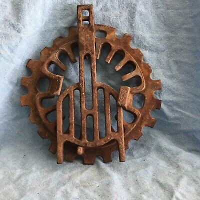 Vintage Cast Iron Coal Shaker For Furnace Steampunk Yard Art