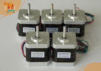 5PCS Nema 17 Stepper Motor 42BYGHW609 0.4N.m=56oz 40mm 2 phase 3d Printer
