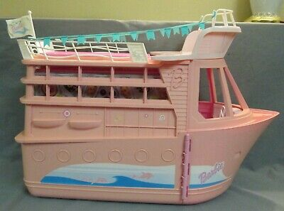 Vintage 2002 Mattel Barbie Pink Cruise Ship Yacht Dance Party Boat Playset