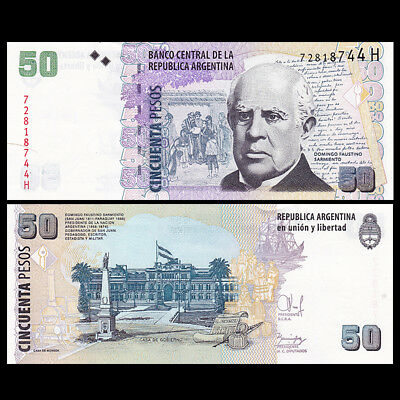 Argentina 50 Pesos Banknote, ND(2010), P-356g, UNC, South America Paper Money