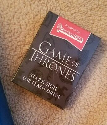 New Sealed Game of Thrones Stark Sigil USB thumb flash drive HBO Loot Crate 4GB