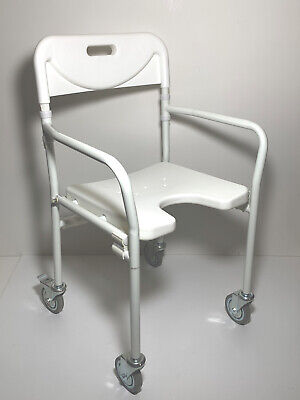 Bath Shower Folding Chair Adjustable Height H'Duty 130kg UW Mobility Medical NEW